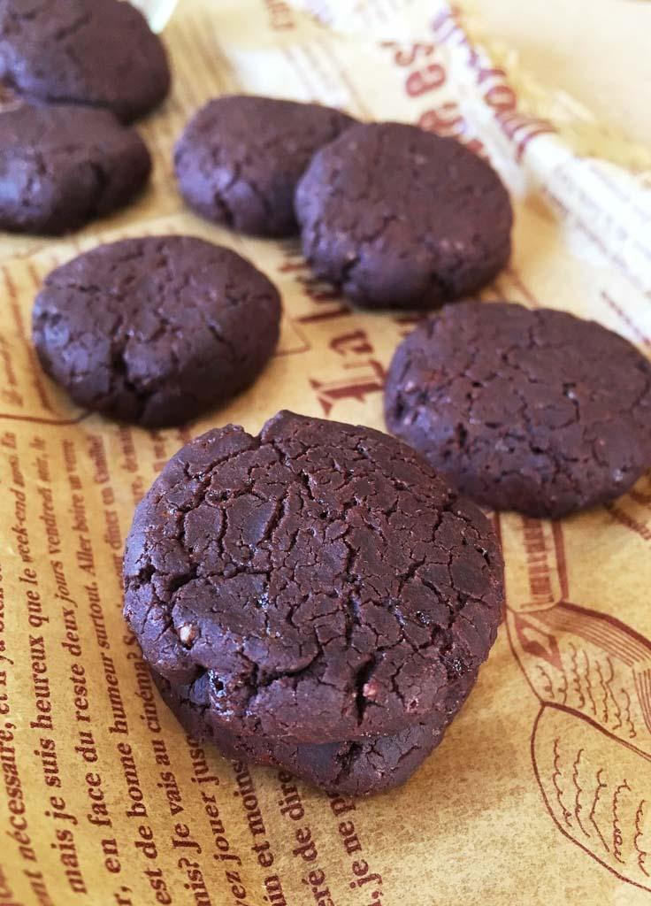 サラダ油と米粉のココアクッキー