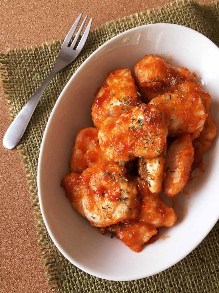 鶏むね肉の柚子胡椒ケチャップ