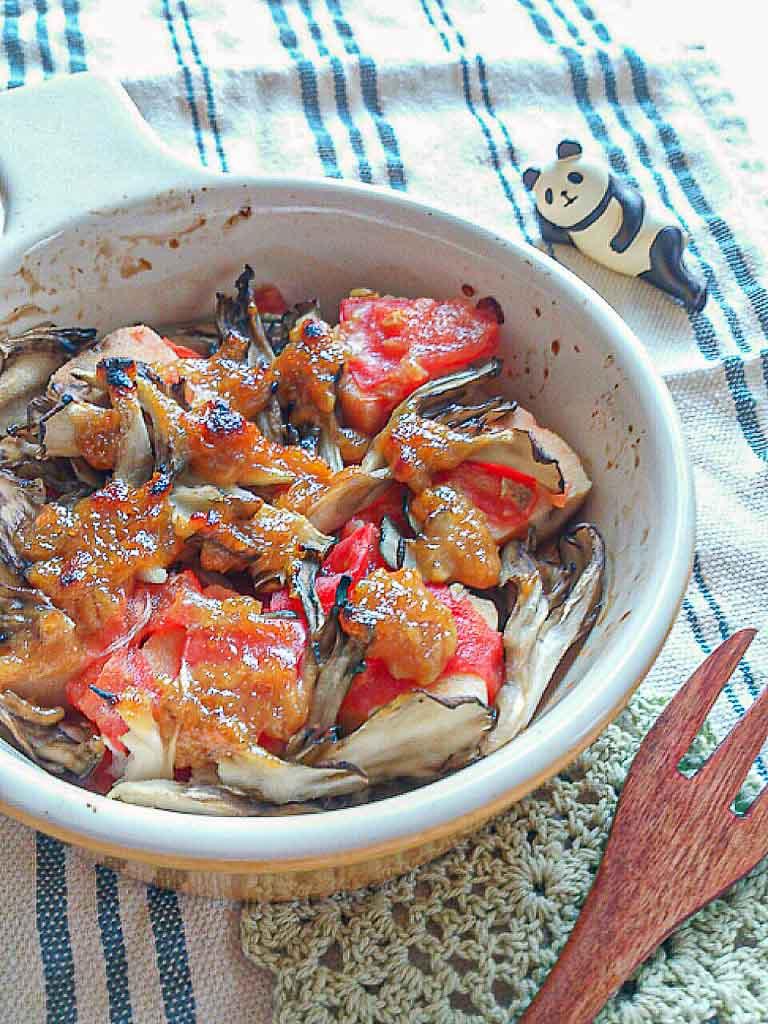 高野豆腐のトマト味噌焼き