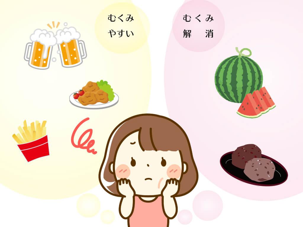 むくみ取りに効果のある食べ物