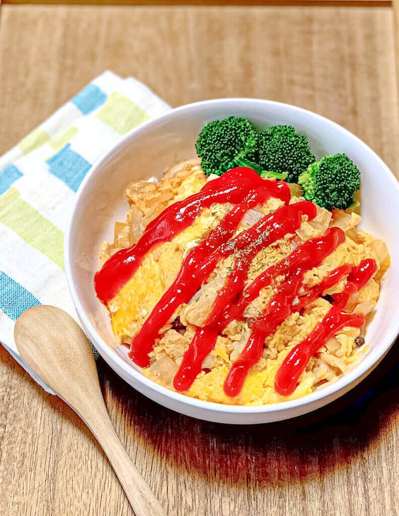 オムライス風親子丼