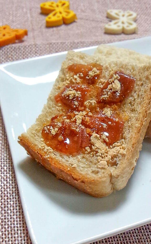 梅はちみつきな粉トースト