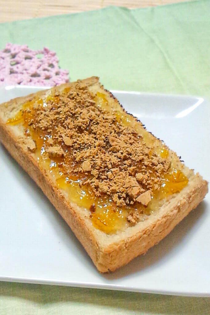 白味噌マーマレードトースト