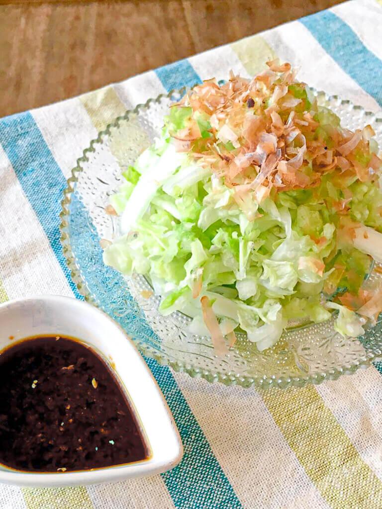 レタサイの生姜醤油サラダレシピ