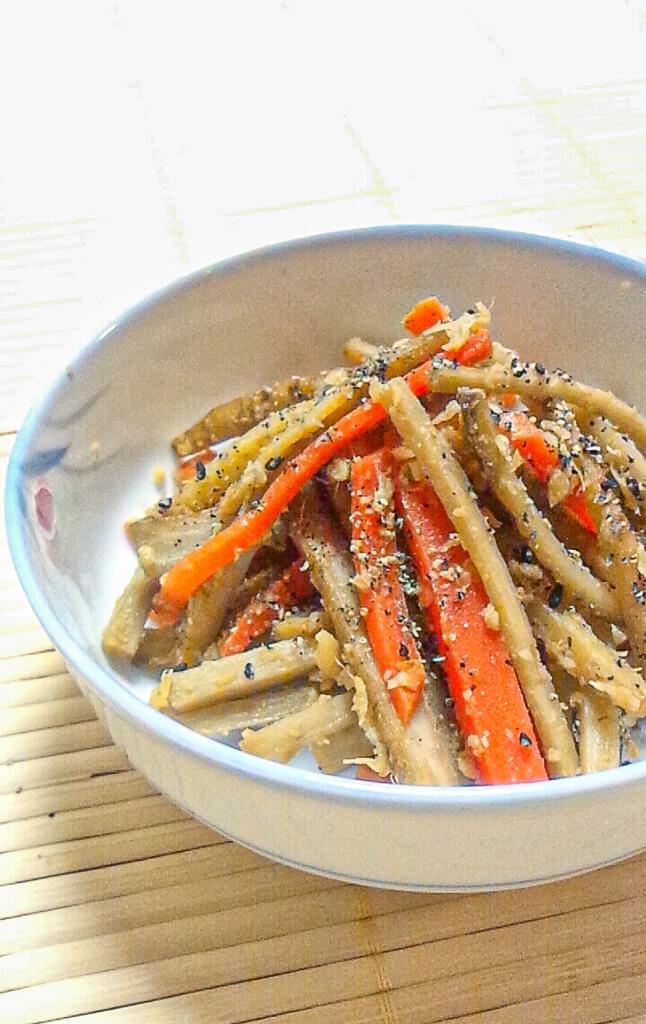 生姜味噌きんぴらレシピ