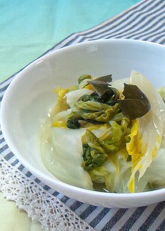 白菜のローリエ煮
