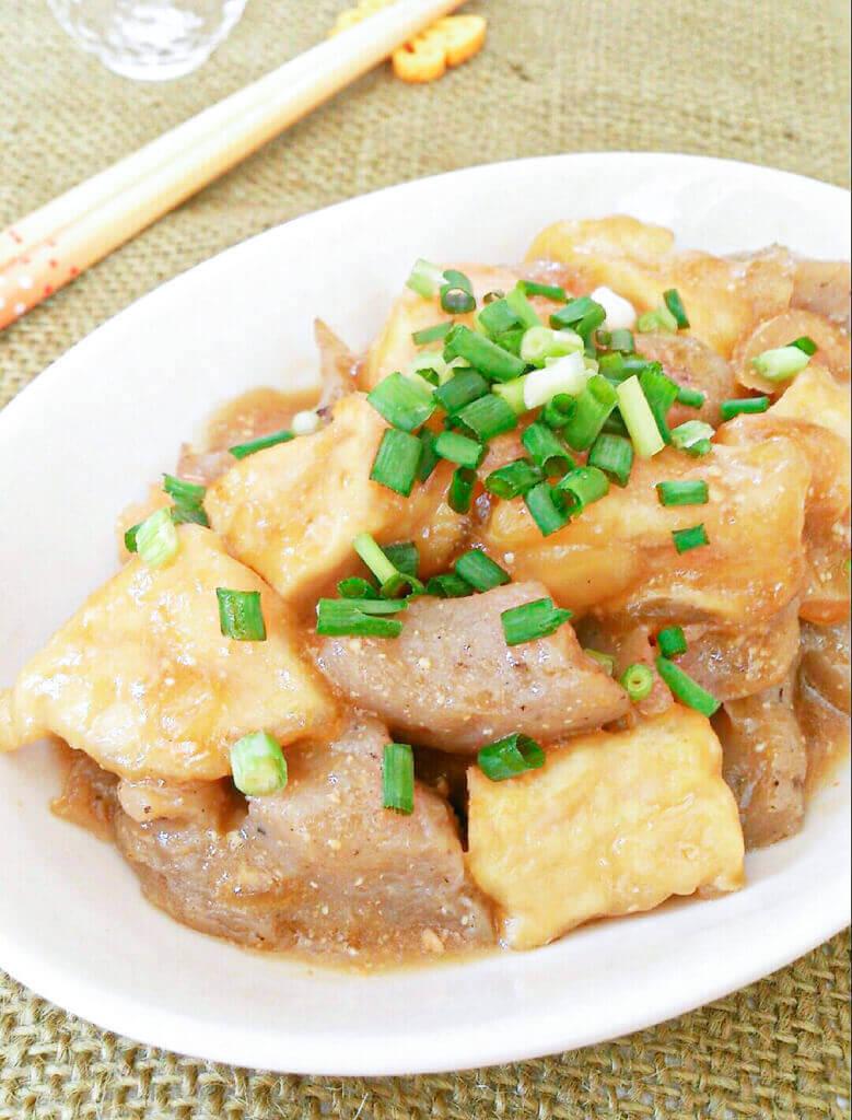 高野豆腐のどて焼き風