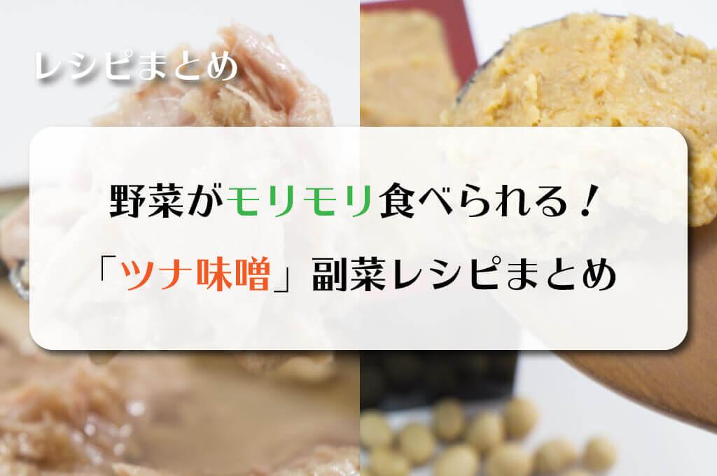 野菜がモリモリ食べられる!ツナ味噌副菜レシピまとめ