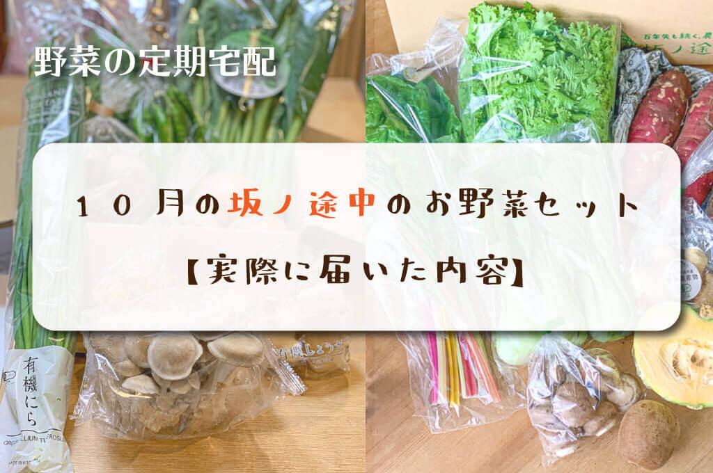 10月の坂ノ途中のお野菜セット