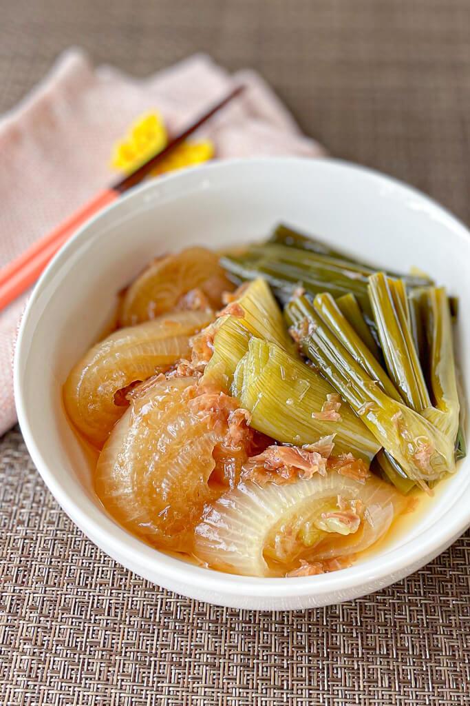 葉玉ねぎの土佐煮レシピ
